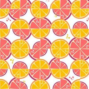 Summer truchet - orange and pink grapefruit