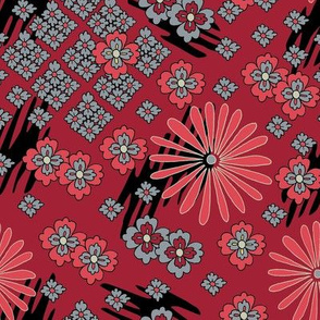 Japanese Pattern - Red
