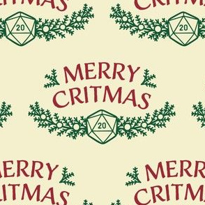 Merry Critmas in Red & Green