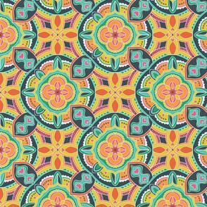 Rhapsody In Bloom Multicolor Kaleidoscope