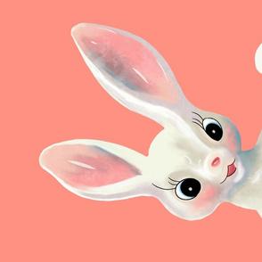 Kitschy teatowel - white rabbit