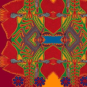 Huichol Pajaros - Kaleidoscope