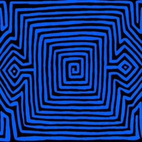 Kuna Indian Tribal - Black Blue