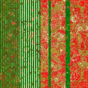 Christmas Festival: Big Bold Christmas Stripes - Vertical