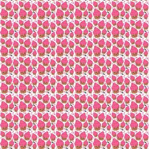 Pink Emoji happy ice cream Small