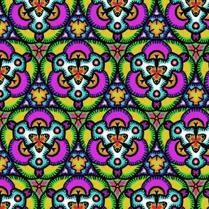 Funky Colorful Hand Drawn Kaleidoscope
