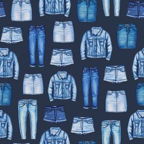 Denim Skirts, Jeans, Cutoff Shorts & Jean Jackets