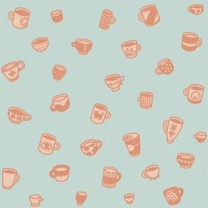 Tiny coffee mugs and teacups and tassen