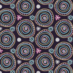 Circle Boho Doodles Purple