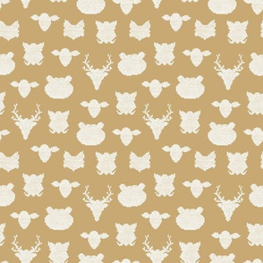 woodland animals cross stitch christmas - small scale