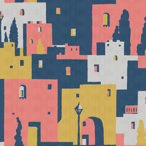 cliff dwellings coral linen