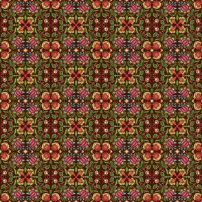 Boho Gypsy Aubergine Floral