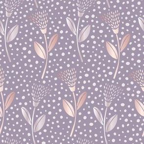 neutral bohemian flower - light purple
