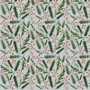Christmas Branch Pattern low res