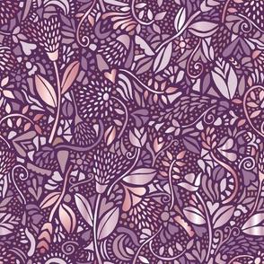 neutral bohemian flowers maroon