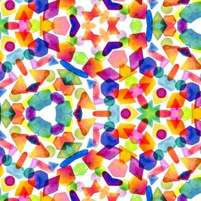 Pick n' Mix Watercolour Kaleidoscope by Gabrielle Cave