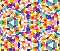 Pick n' Mix Watercolour Kaleidoscope by Gabrielle Cave