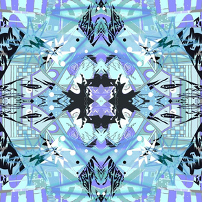 Hall of Mirrors -- Magic, Mayhem, Mystery -- Halloween Gothic Modern Kaleidoscope Woman Power