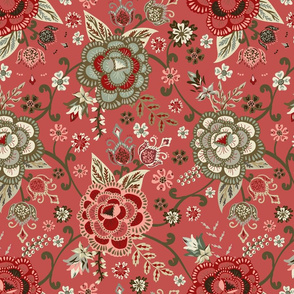 Classic Chintz - Dark Rose