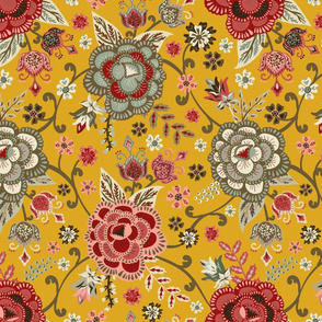 Classic Chintz - Yellow - Medium