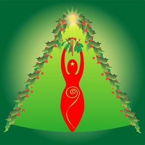 Yule Spiral Goddess