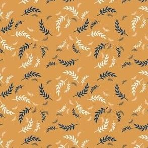 Whimsical Leaves-Mustard