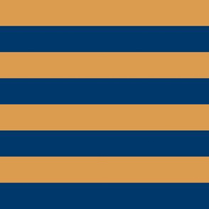 Mustard Blue Stripes