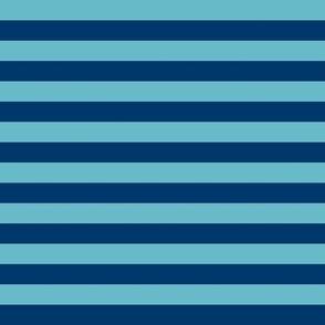 Teal Blue Stripes