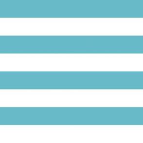 Teal White Stripes