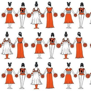 Paper Dolls in red