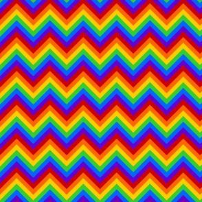 Rainbow Chevron - m/sm Scale