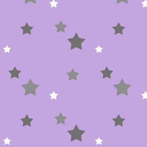 Scattered Stars / grey and purple