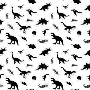 Black and White Dinos