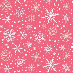 Festive Flakes on Pink
