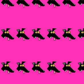 Row of Derps Pink (martingale)