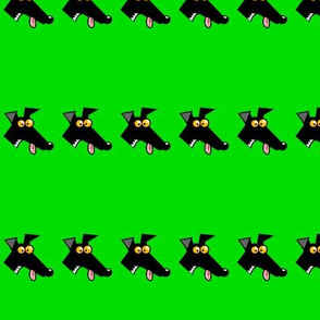 Row of Derps Green (martingale)