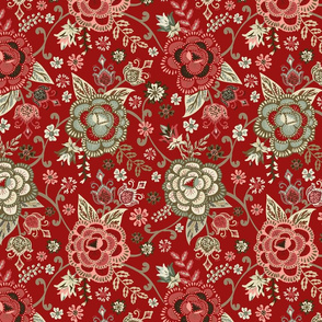 Classic Chintz - Red - Small