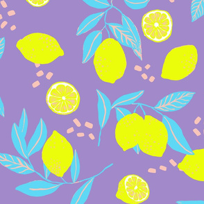 Fresh like a Lemon on lilac