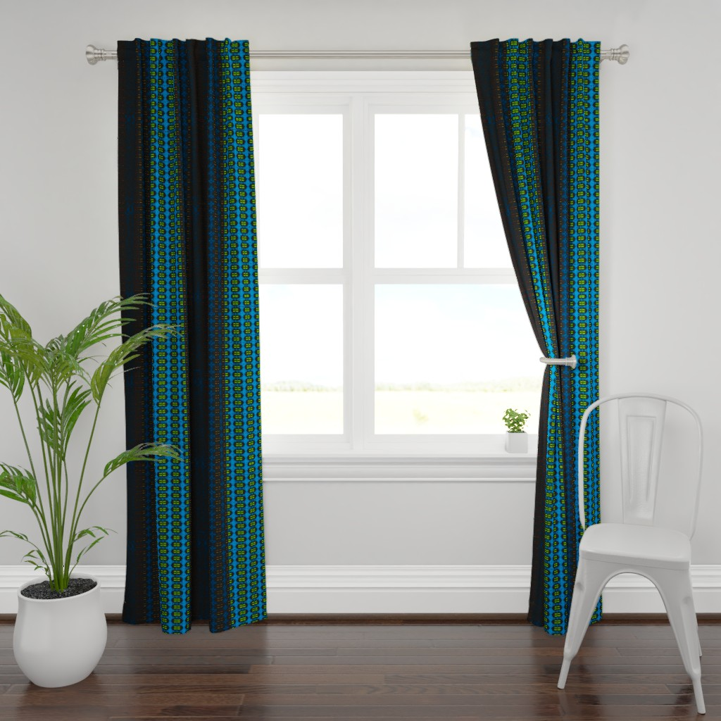 Plymouth Curtain Panel featuring darts3e by colortherapeutics