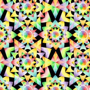 Rainbow Kaleidoscope Mandala