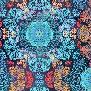 Underwater coral kaleidoscope
