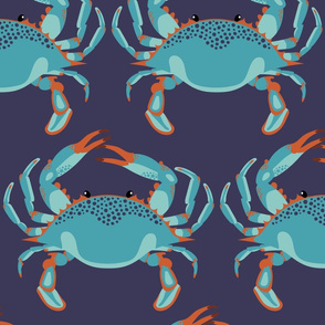 Blue Crab Jubilee // JUMBO NAVY