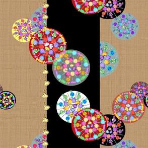 Kandy Kaleidoscopes On Stripes