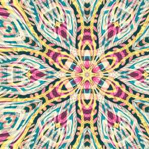 kaleidoscopic tiki flower