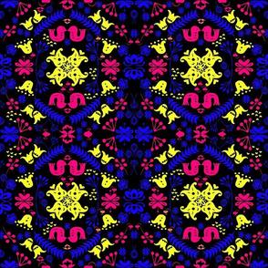 Neon scandi kaleidoscope