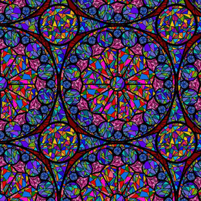 kaleidoscope  stained glass