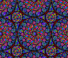 kaleidoscope  stained glass