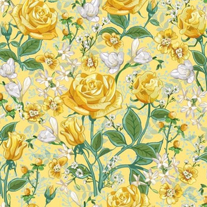 Yellow Roses Chintz Small | Yellow