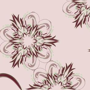 Dreimasterblume im Kaleidoskop, groß