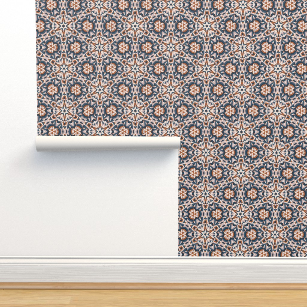Isobar Durable Wallpaper featuring Colliding Kaleidoscope  by nanshizzle